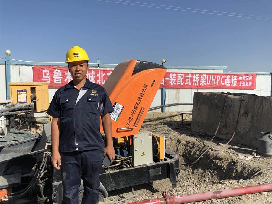 混凝土输送泵施工