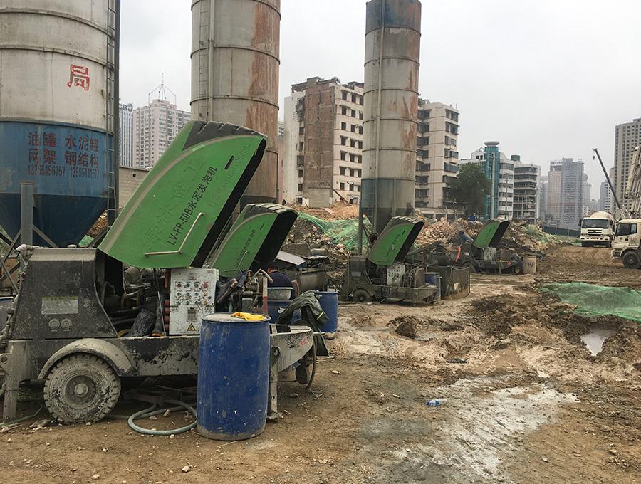 水泥发泡机施工