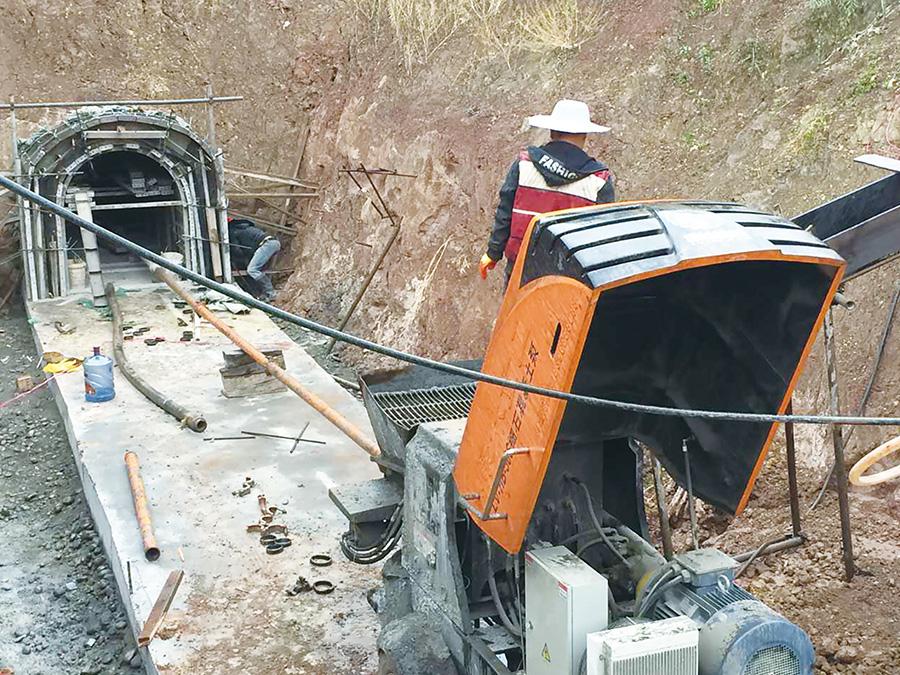 隧道混凝土泵施工