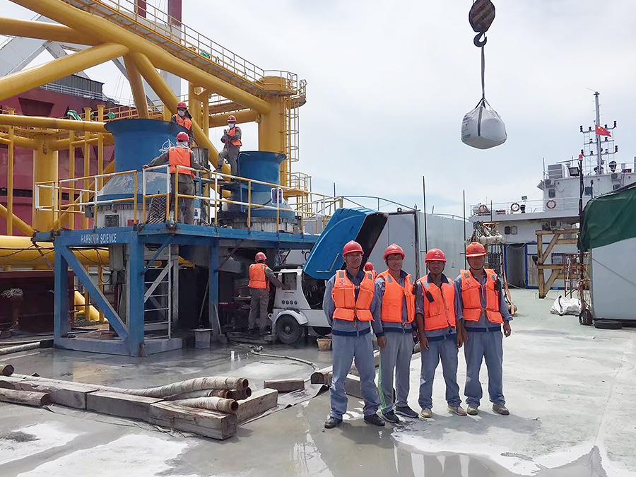 海上混凝土泵施工