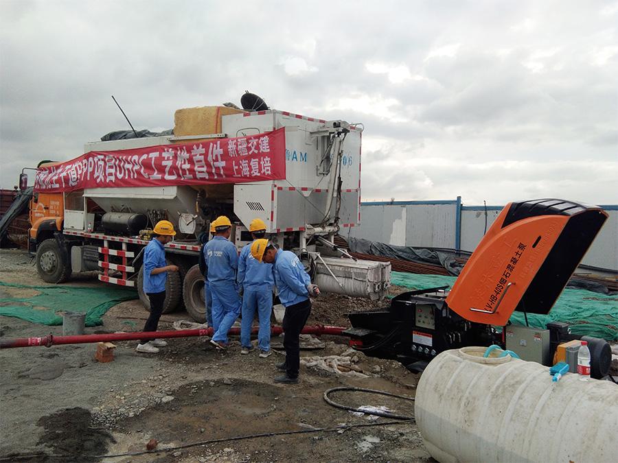 混凝土泵施工